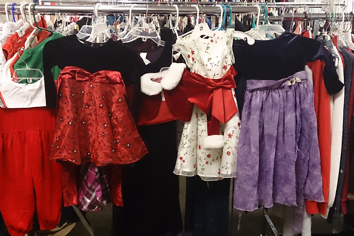 Thrift Store Holiday Clothing, Dress Clothing